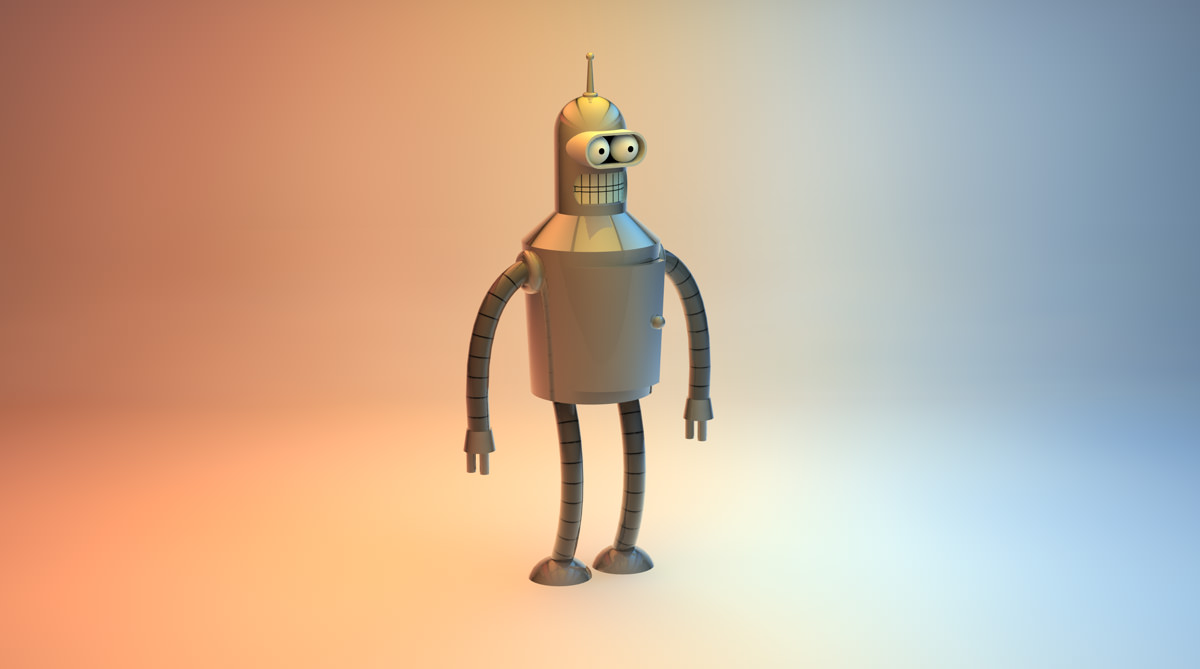 Bender 3D Render Futurama