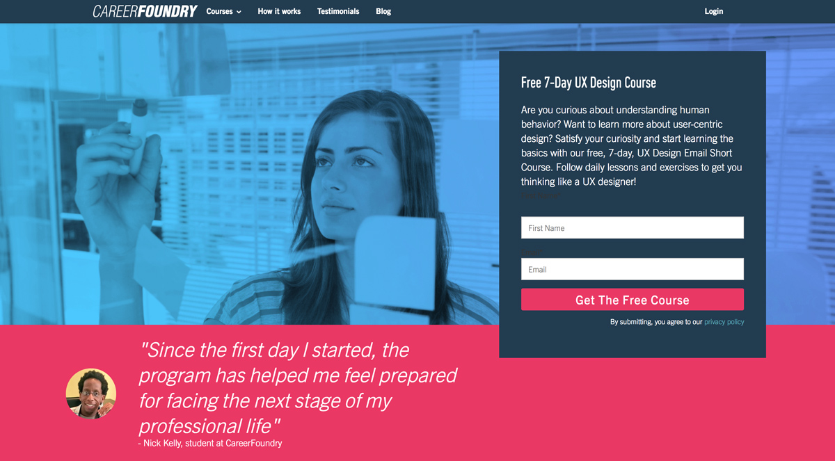Career Foundry 7 Day Email UX Course