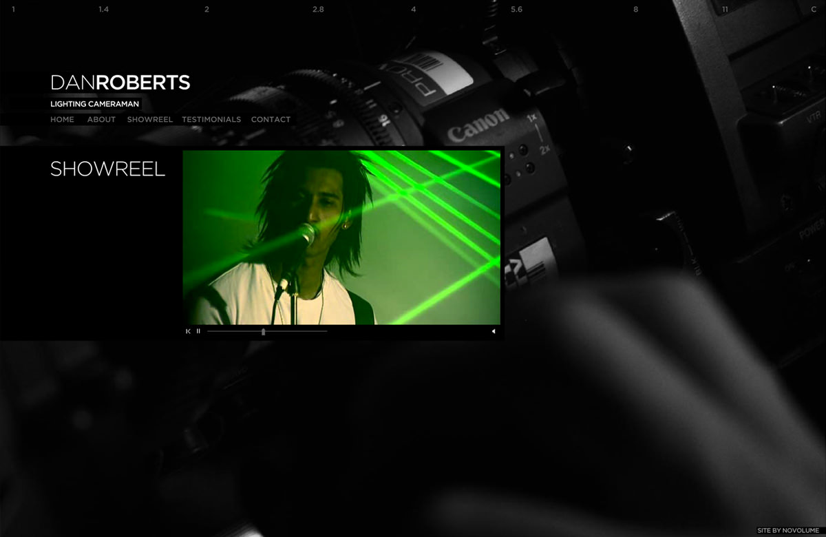 Dan Roberts Website Showreel