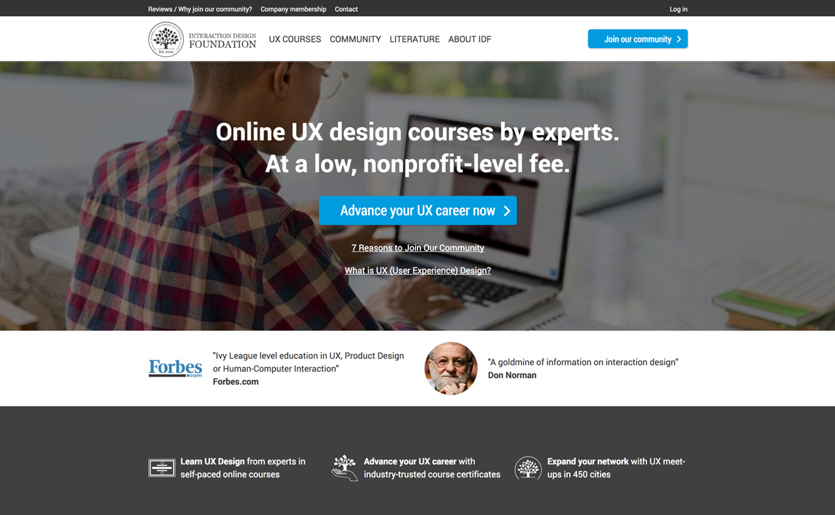 Interaction Design Foundation Home Page