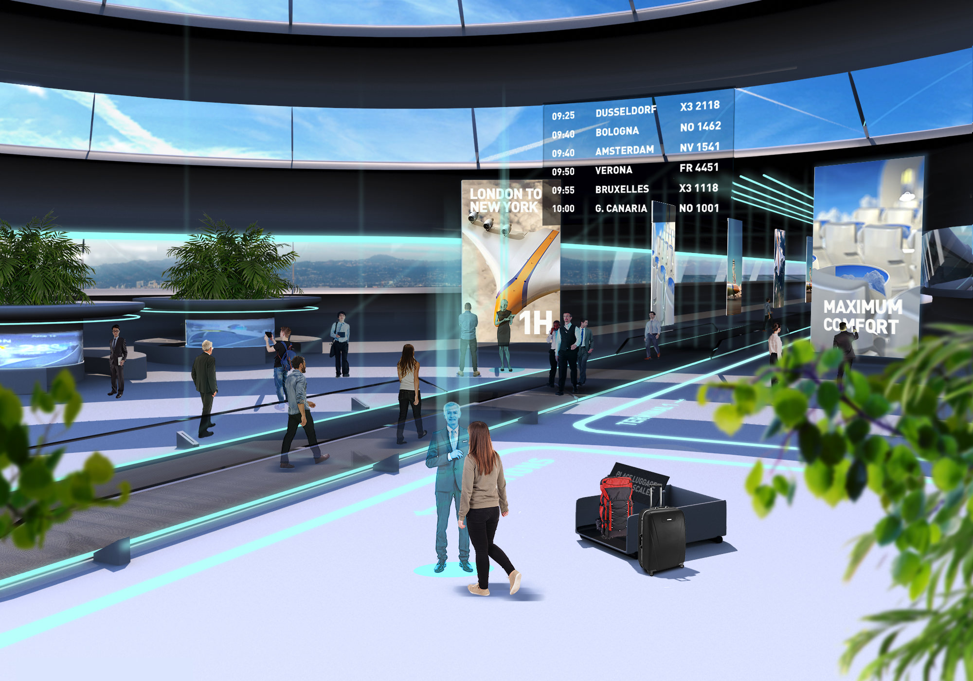 Inside Airport Of The Future