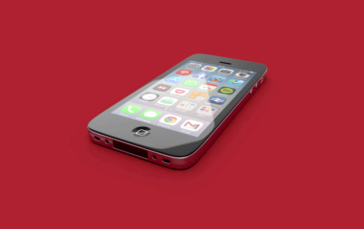 iPhone 3D Render
