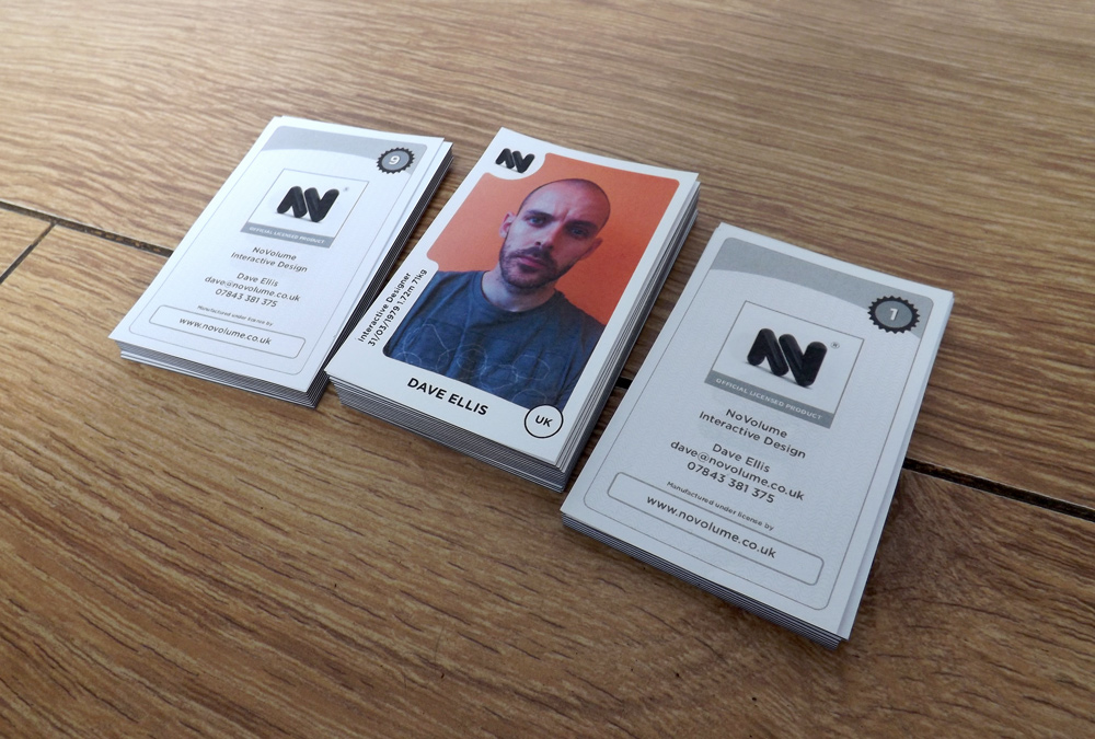 Panini Sticker Football Business Cards