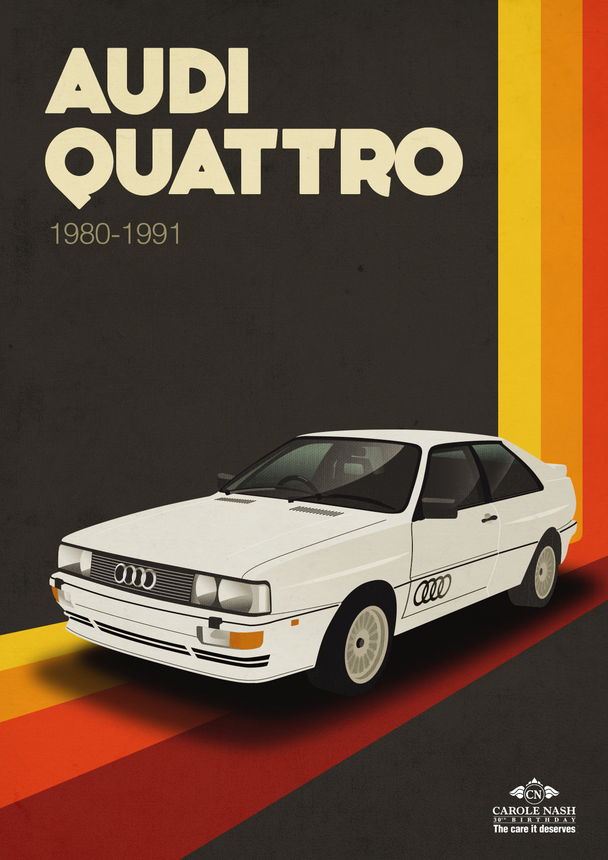 Retro Audi Quattro Illustration/Poster