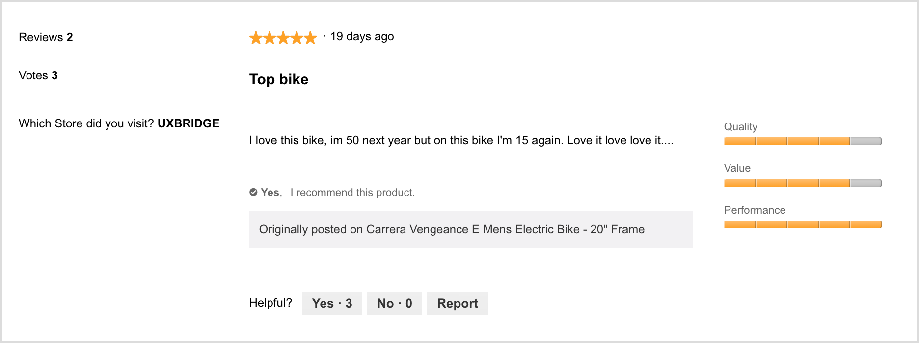 Ebike Retailer Review Example